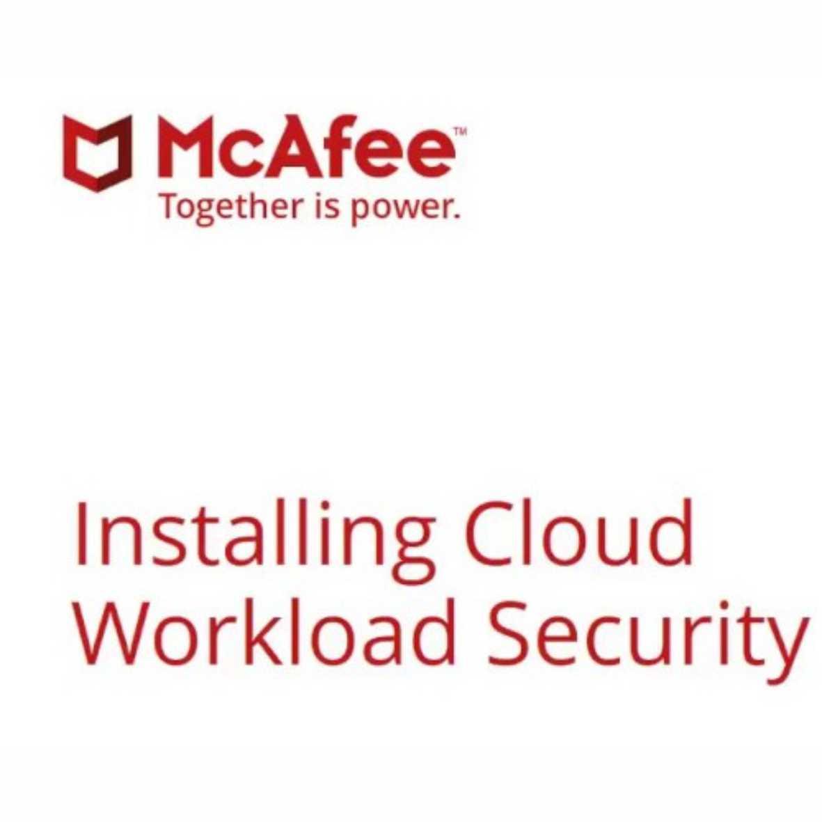 McAfee Cloud Workload Security